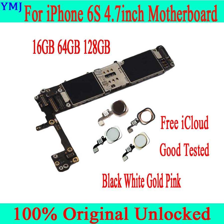 <font><b>16GB</b></font> / 64GB / 128GB for <font><b>iphone</b></font> <font><b>6S</b></font> Motherboard with Free iCloud,Original unlocked for <font><b>iphone</b></font> <font><b>6S</b></font> Logic board with/without Touch ID image
