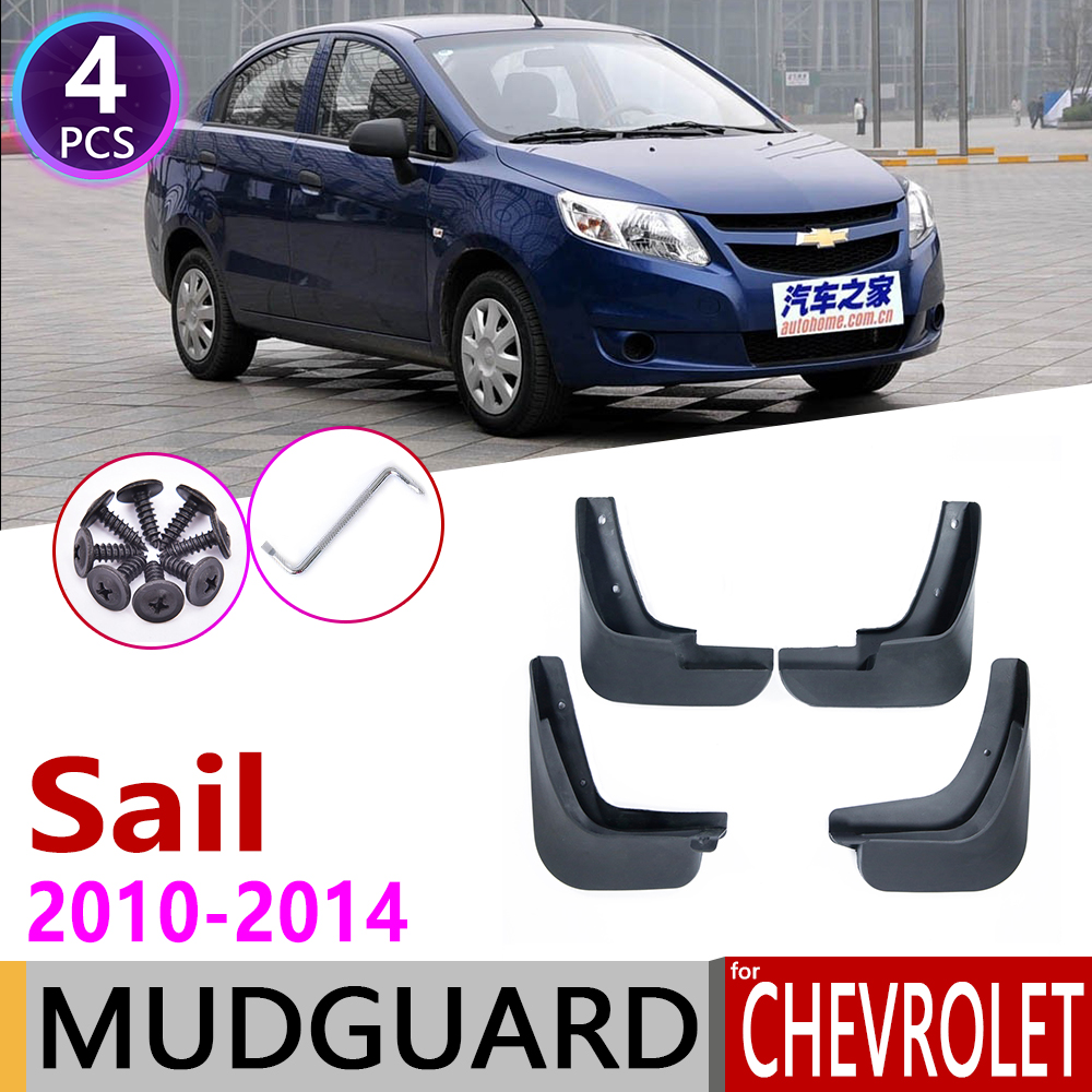 4Pc Car Mudguards for Chevrolet Sail 2010 2014 Classic Mudflap Fender Mudguard Mud Flaps Guard Splash Accessories 2011 2012 2013