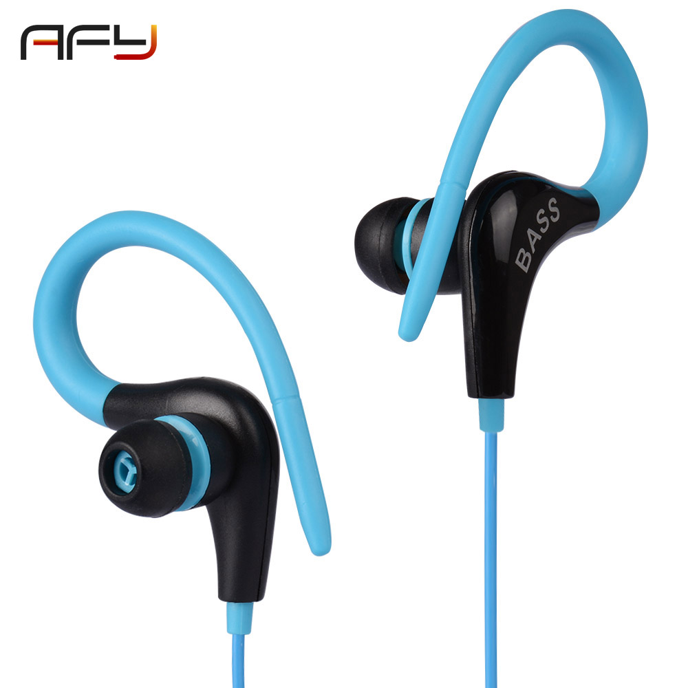 AFY Sport Earphone 3.5mm Stereo Bass Earphones Headphones Running Ear Hook Headset For Mobile Phone Xiaomi Music Ear Phone