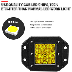 Image 2 - 2Pcs 5 Inch Flush Mount 5D Square LED Driving lamp flood spot Beam Doul Row OffRoad Work Light for Jeep 4x4 offroad truck 12V