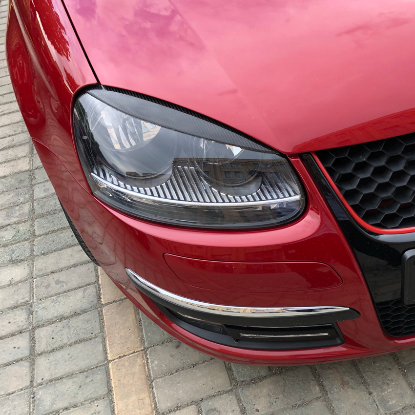 Car Headlights Eyebrow Eyelids Stickers Trim Cover for Volkswagen Golf 5 MK5 Accessories Car Styling