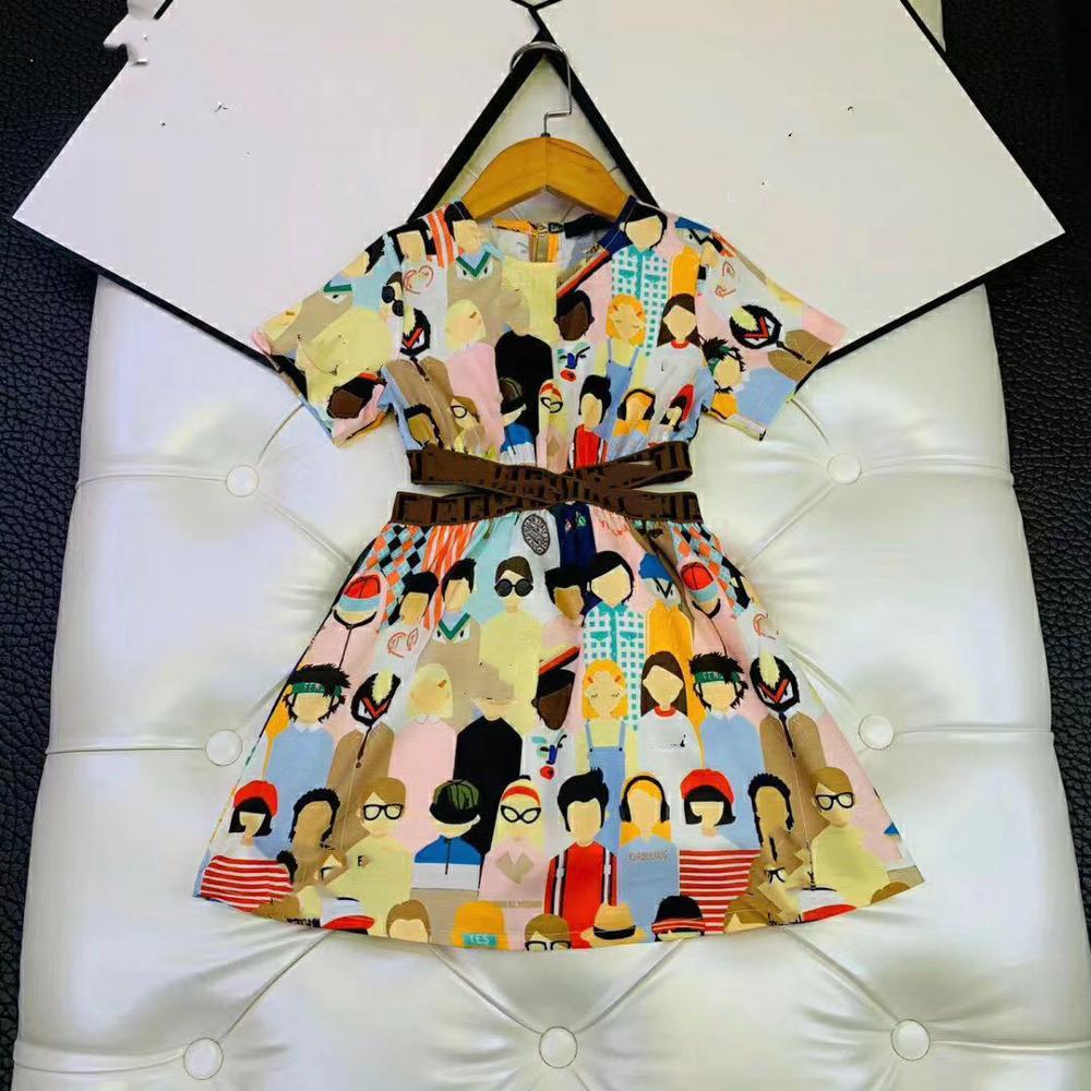 2020 New Fashion Girls Dress Friend printed Girls Dress Brand Boutique Toddler Girls Clothing Summer Pretticoat Outwear|Dresses| - AliExpress