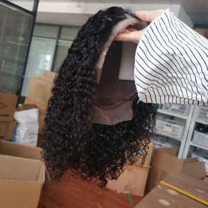 Image 4 - Kinky Curly 13x4 4x4 bob lace front wigs Human Hair Wigs Jerry Curly 100% Human Hair Wig Headband wigs perruque cheveux humain