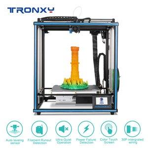 Image 4 - 2020 Tronxy X5SA 24V nuova stampante 3D aggiornata kit fai da te piastra di costruzione in metallo Touch Screen LCD da 3.5 pollici livellamento automatico ad alta precisione