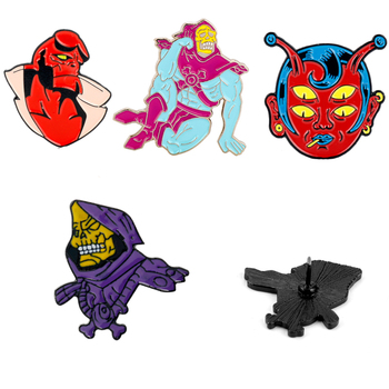 Skeletor He-Man and the Masters of the Universe Brooch Enamel Lapel Pin For Men Women Hellboy Skull Brooches Halloween Gifts image