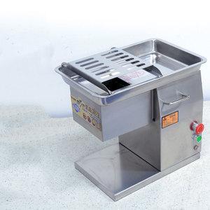 Image 1 - 상업 스테인레스 스틸 고기 슬라이서 큐브 고기 다진 기계 Flaky 고기 절단 기계 전기 고기 슬라이서 커터 220V