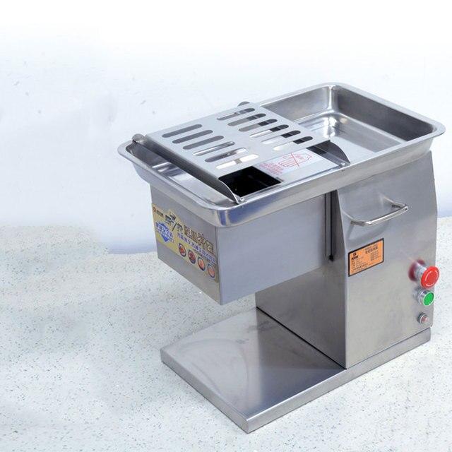 상업 스테인레스 스틸 고기 슬라이서 큐브 고기 다진 기계 Flaky 고기 절단 기계 전기 고기 슬라이서 커터 220V