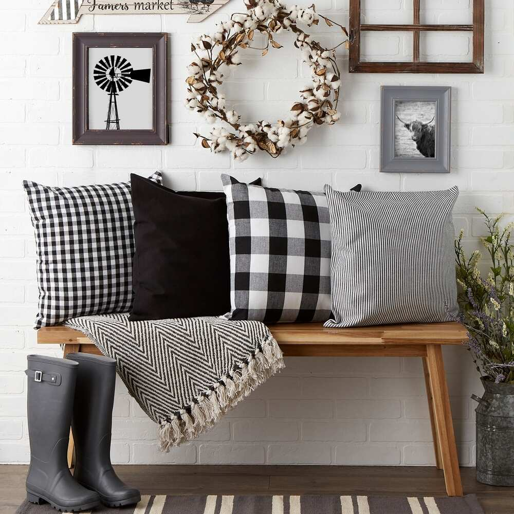 Buffalo Plaid Cushion Cover Cotton Pillow Cover for Sofa Living Room 45x45cm Decorative Pillows Housse De Coussin