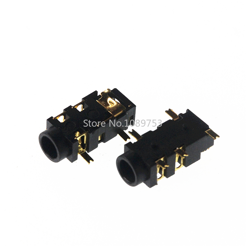 20pcs/lot 3.5mm Headphone Jack Socket Connector Female Audio 5 Pin SMT SMD PJ-327A Gold-Plated Patch SMD Audio Earphones Socket