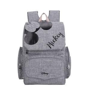Image 2 - Disney Minnie mumya analık bez torba büyük kapasiteli bebek Mickey Mouse bebek bezi çantası seyahat sırt çantası hemşirelik çanta bebek bakımı için