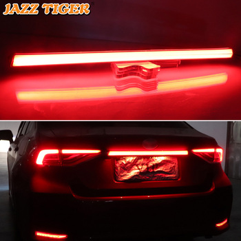 For Toyota Corolla 2019 2020 Car Rear Bumper Trunk Tail Light LED Rear Fog Lamp Brake Light Dynamic Turn Signal Reflector
