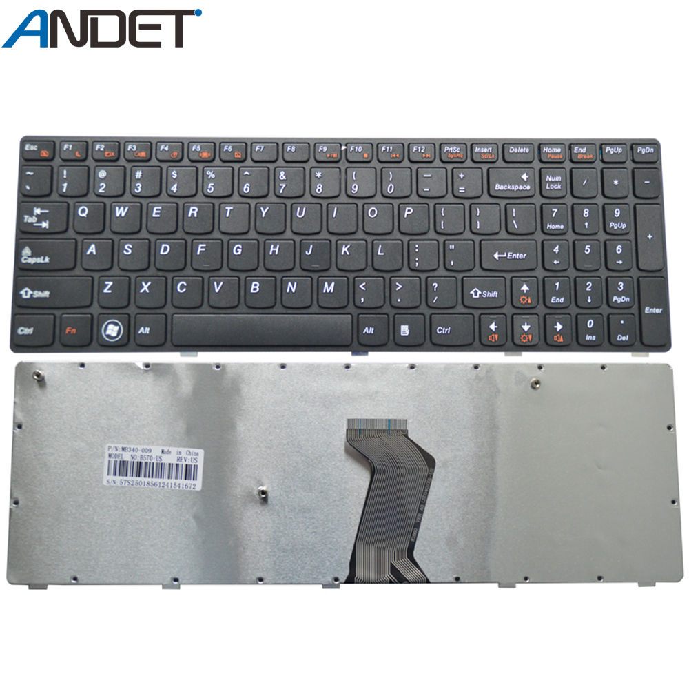 New US <font><b>Keyboard</b></font> for <font><b>Lenovo</b></font> Z570 V570 B570 V575 Z575 B570A <font><b>B570E</b></font> B570G B575 B575A <font><b>Keyboard</b></font> English Layout Black image