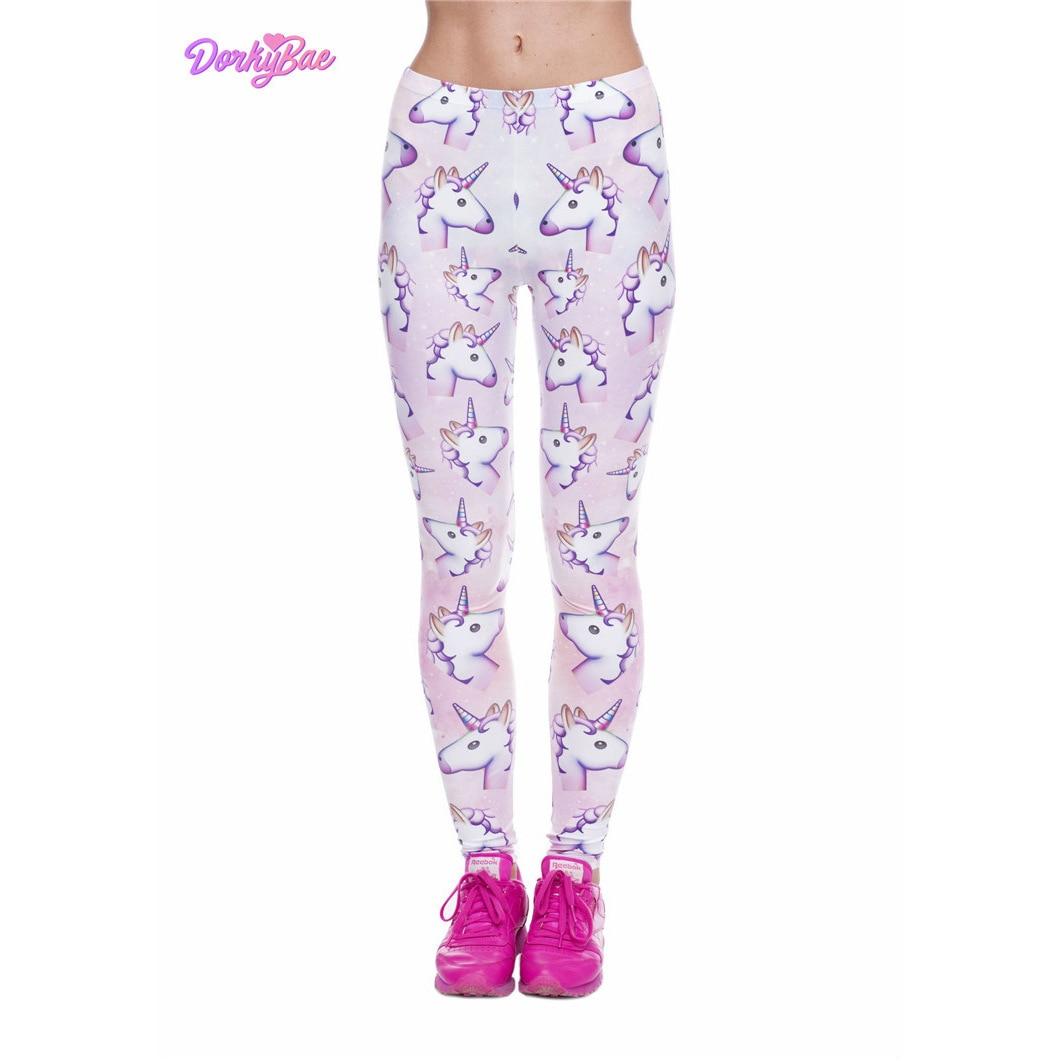 Unicorn Sexy Sport polyester Leggings Push Up Fashion Pants High Waist Workout Jogging For Women Athleisure Training Leggings