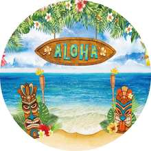 Гавайи «aloha» летние спасательный круг круглый фон крышка платье