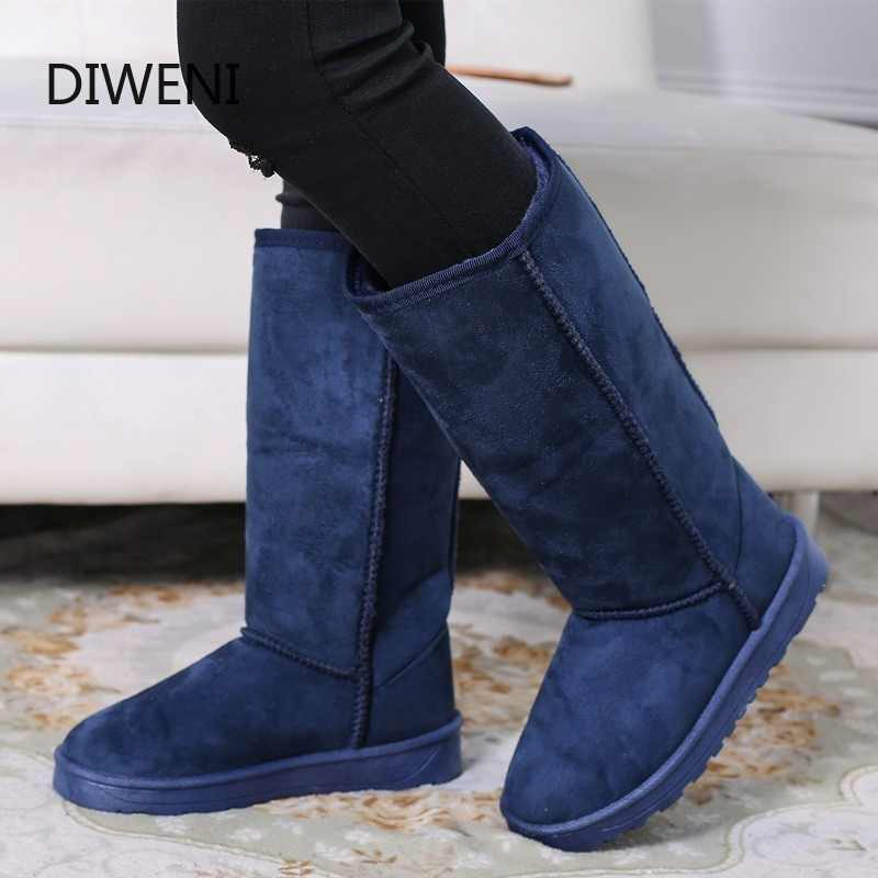 DIWEINI High Quality Snow Boots Women Fashion Genuine Leather Australia Classic Women's High Boot Winter Women Snow Shoes N247