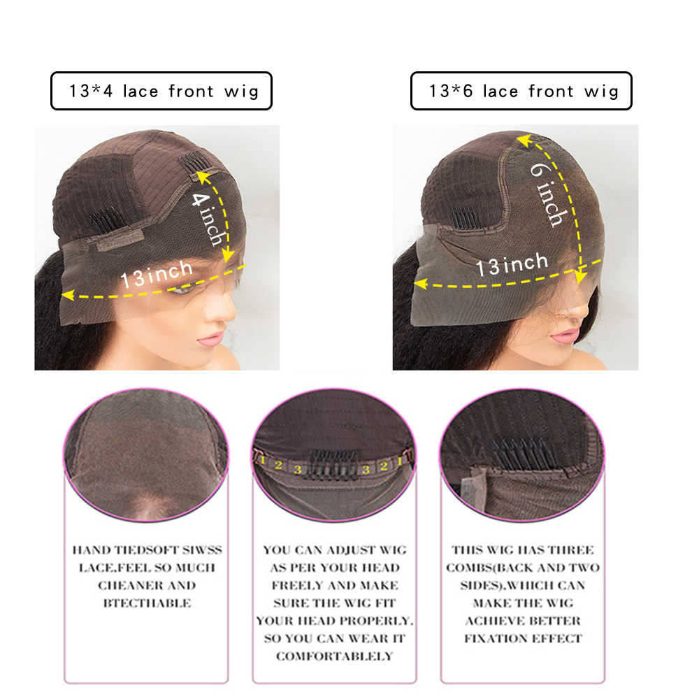 13x6 Deep Part Lace Front Human Hair Wigs 130% Straight Brazilian Remy Hair Wig for Black Women Pre Plucked Natural Hairline