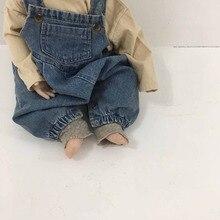 MILANCEL baby overalls spring new infant girls rompers denim