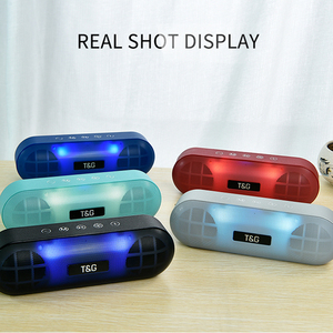 Image 5 - TG LED Bluetooth Outdoor Speaker Metal Portable Super Bass Wireless Loudspeaker 3D Stereo Music Surround With Mic FM TFCard Aux