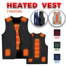 Men Women Winter Flexible Electric Thermal Cloth Waistcoat Fish Hiking Euro Size S-6XL Outdoor USB Infrared Heating Vest Jacket cheap ISHOWTIENDA CN(Origin) Fits true to size take your normal size Vests None Polyester