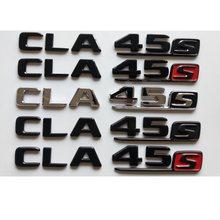Emblema para porta-malas mercedes benz w117 x117 c117 cla45, emblema letras pretas cla 45 s cla45s amg