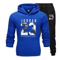 Nouveau hommes sweats à capuche costume Jordan 23 survêtement Sweat costume Sweat à capuche polaire + pantalon de survêtement Jogging Homme pull 3XL costume de sport Homme