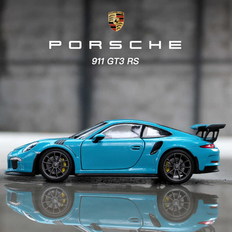 Welly 1 24 Porsche 911gt3 Rs Sports Car Simulation Alloy Car Model Crafts Decoration Collection Toy Tools Gift Aliexpress