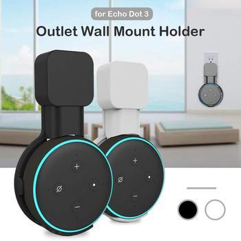 Mini generación salida montaje en pared soporte ahorro de espacio accesorios soporte para Alexa Echo Dot 3/Google Home altavoz