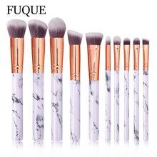 Foundation-Brush Makeup-Brush-Set 10pcs Marbling