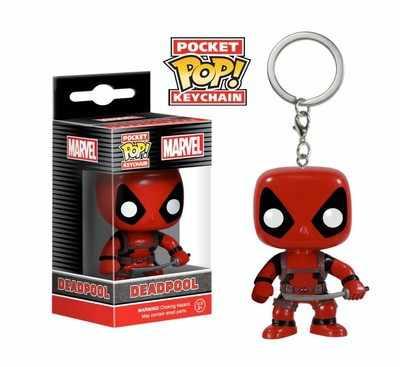 Pop nova chegada marvel chaveiro pocket pop chaveiro deadpool personagens figura de ação collectible modelo brinquedos para crianças presente