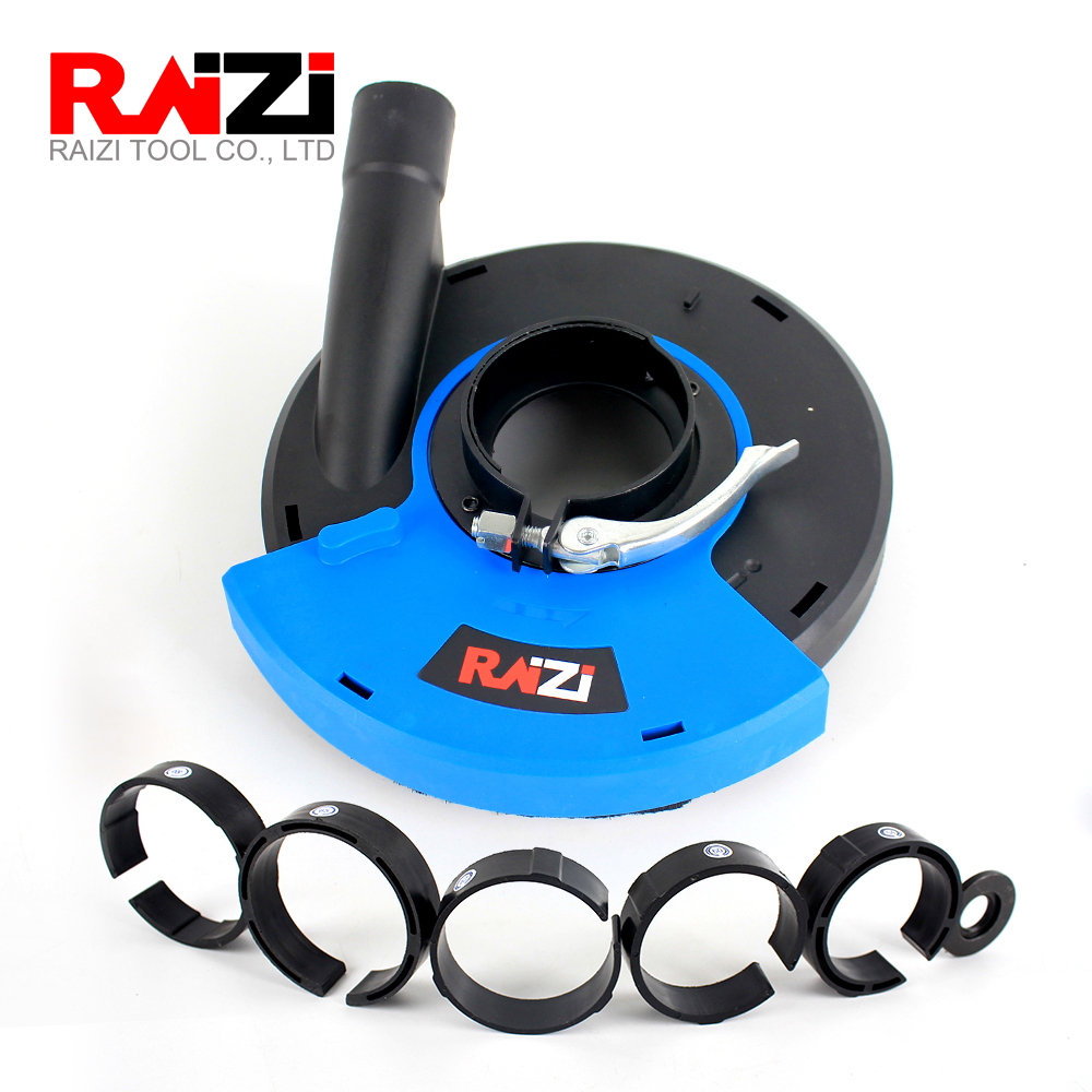Raizi 5,7 Inch Angle Grinder Dust Shroud Cover Tools For Concrete Marble Granite Engineered Stone Grinding Dust Collection