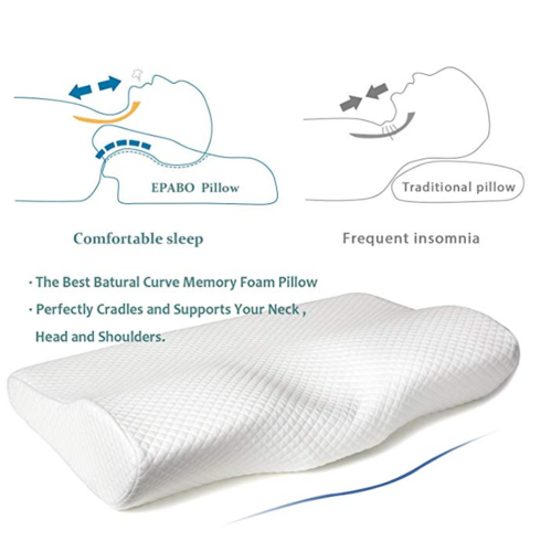 Large Bamboo Contour Memory Foam Pillow Neck Head Support Orthopaedic Quality