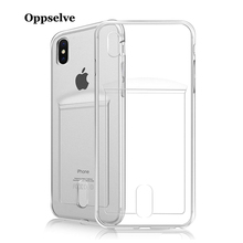 Oppselve Luxury Shockproof Transparent Silicone Phone Case For iPhone X XS Max XR 8 7 6 S Plus Clear Protection Back Cover Coque