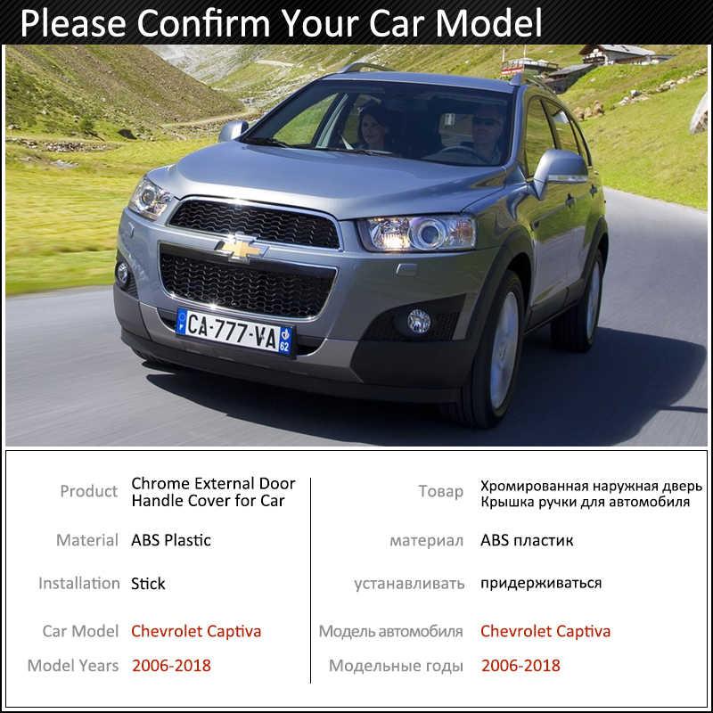Siyah karbon Fiber kapı kulp kılıfı Chevrolet Holden Captiva için Daewoo Winstorm 2006 ~ 2018 aksesuarları çıkartmalar Trim seti krom