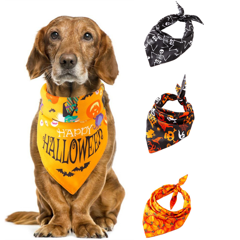 Bandana Halloween Pet Dog Collar Neckerchief Triangular Bandage Scarf Accessory