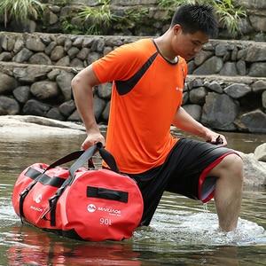 Image 2 - 30/60/90L 야외 PVC 방수 가방 드라이 자루 스토리지 가방 카누 보트 카약 강 트레킹 수영 여행 가방 래프팅