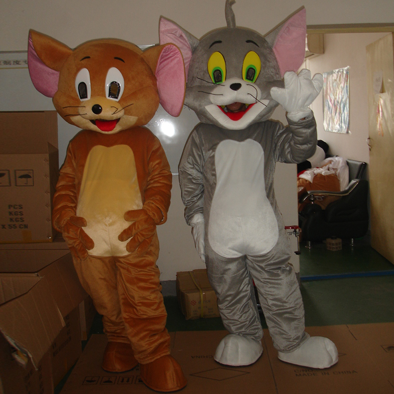 tom cat mascot and Jerry Mouse mascot costume adult size mascot costume Cosplay film hollween