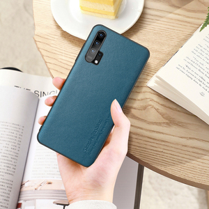 Image 4 - Simple Fashion Case For Honor 20 Pro Cases Thin Genuine Leather & Silicone Shockproof Back Case Cover For Huawei Honor 20/ Pro