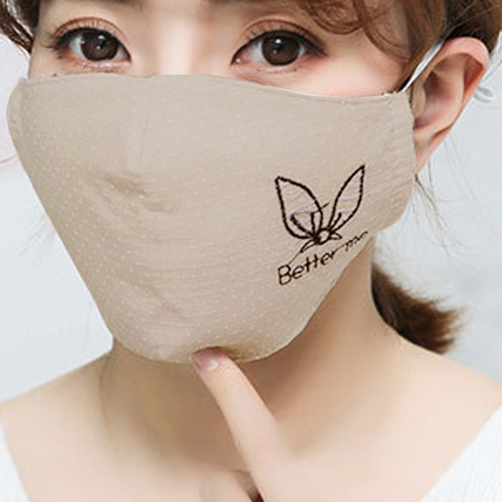 H25e5a51d319441ffa1fe7d8d48989c89Y Kawaii Maska Women Cotton Print Facemask Outdoor Riding Quick-drying Dustproof Keep Warm Mask
