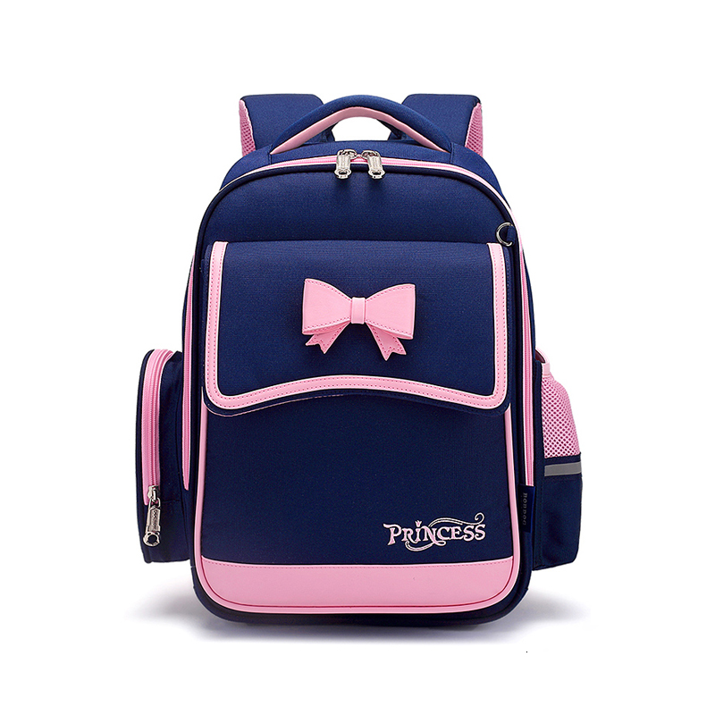 Backpack  For Elementary  School Girl Waterproof Oxford Cloth Pink Sac Enfant School Bags Kids Backpack  Girls Cute Bow Kids Bag