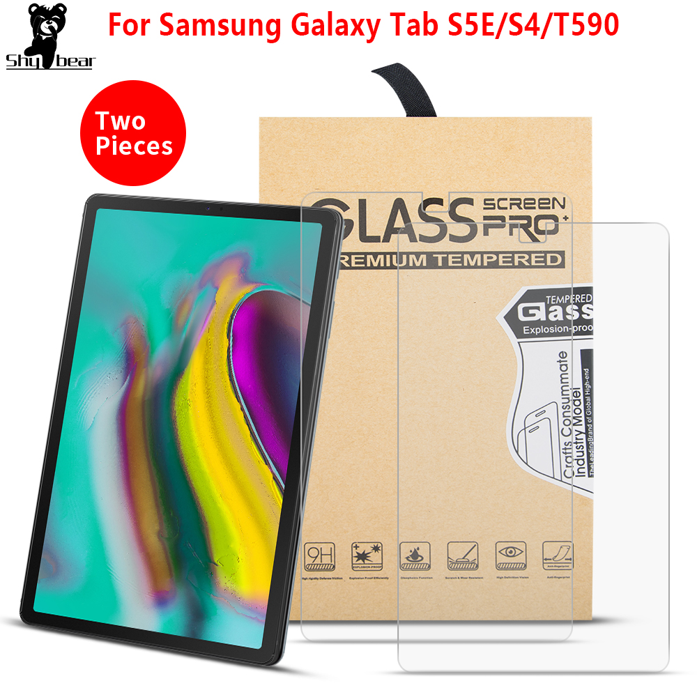Tempered Glass Film For Samsung Galaxy TAB S6 10.5 2019 S4 S5E T720 T860 T835 T590 Tempered Guard 2PCS Screen Protector CASE