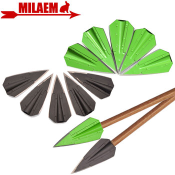 3/6/12pcs Archery Hunting Arrowheads Arrow Points Target 2 Blades Arrow Tips Broadheads Practice For 8mm Arrow Shaft Accessories 3 6 12pcs 100gr archery blade arrowhead stainless steel broadheads target arrow point tips hunting shooting accessories