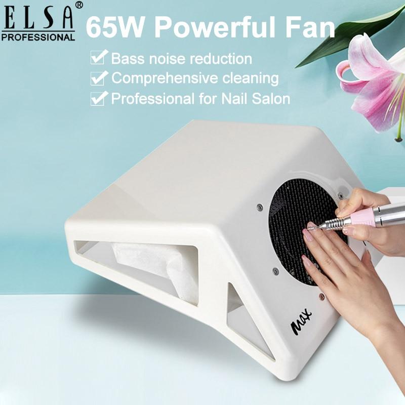 65W MAX Aspirapolvere per Manicure Velocità Regolabile Collettore di Polveri Per Nail Aspirapolvere