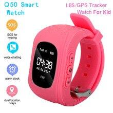 На Q50 дети умные часы SOS для мониторинга местоположения телефона ios и Android фунт/ГБС трекер