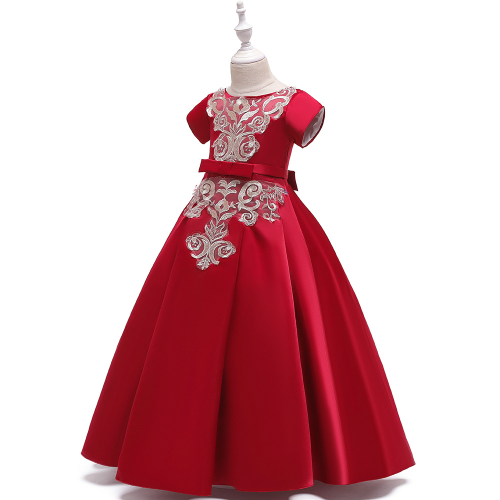 Europe And America Child Formal Dress Fashion Nobility Long Skirts Formal Dress Piano Performance Children Formal Dress