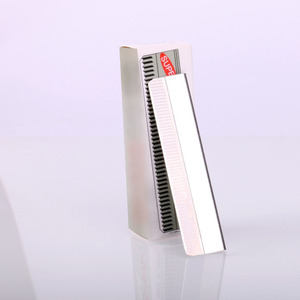Image 4 - מקצוע גבות תער נירוסטה Microblading 100pcs גבות גוזם גבות גילוח סתגלן איפור כלים זרוק חינם