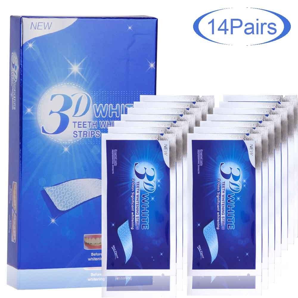 7/14Pairs 3D White Teeth Whitening Strips Bleaching Teeth Veneers Tooth Whitner Oral Hygiene Dental Care Dental Cleaning Tools
