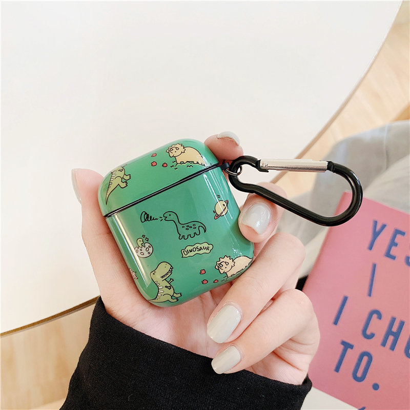 Cute Dinosaur Pattern Case For Apple Airpods Cover Funny Cartoon Headset Charging Box For Airpod Silicone Bluetooth Earphone Bag