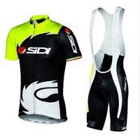 Nova equipe sidi camisa de ciclismo wear bicicleta manga curta conjunto roupas verão secagem rápida maillot culotte mtb ciclo roupas|Kits ciclismo| |  -