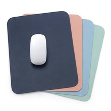 Solid Color Simple Leather Desk Pad Small Mouse PU Waterproof Cute Mat Single side