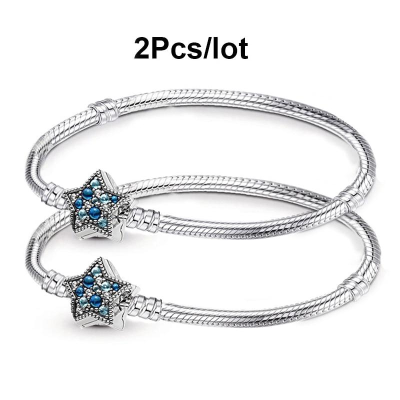 BAOPON 2Pcs/lot Animal Style Snake Chain Charm Bracelets for Women Men Gift DIY Bracelet Bangles Jewelry Making Dropshipping